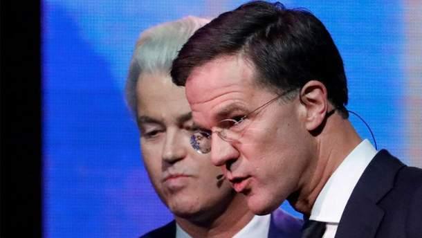 Марк Рютте на политических дебатах