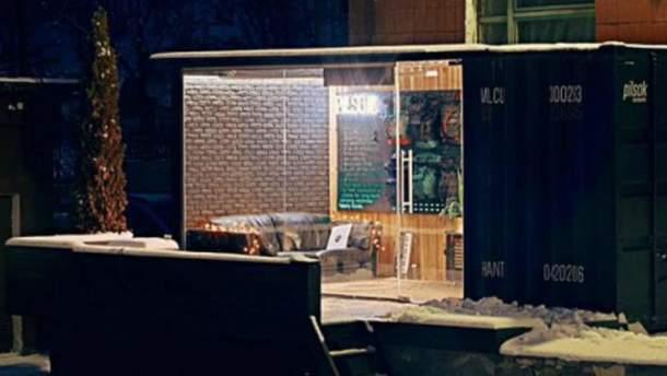 Радиостанция в металлическом контейнере