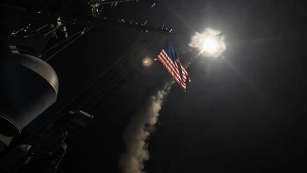США нанесли удар по авиабазе в Сирии