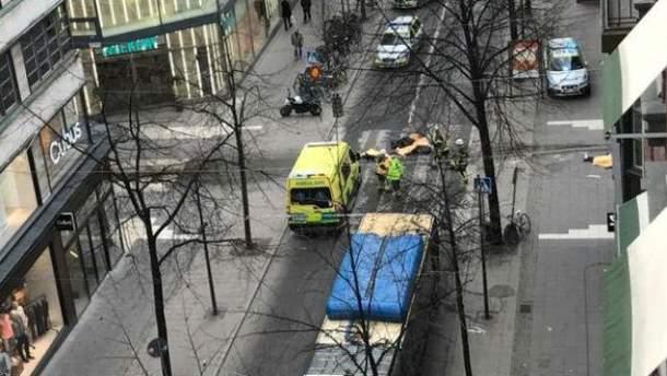 Место теракта в Стокгольме
