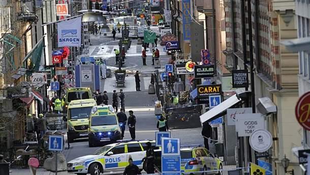 Последствия теракта в центре Стокгольма