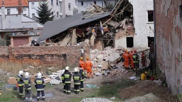 Обвал будинку в Польщі
