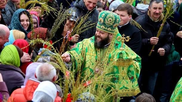 Вербна неділя  в Україні