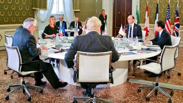 Зустріч глав МЗС G7
