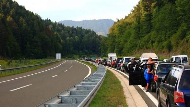 Черги на кордоні ЄС
