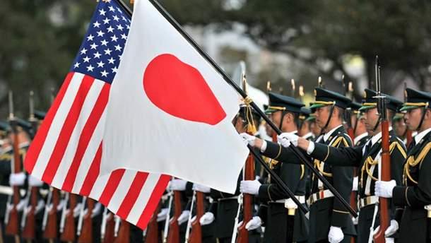 Флаги Японии и США