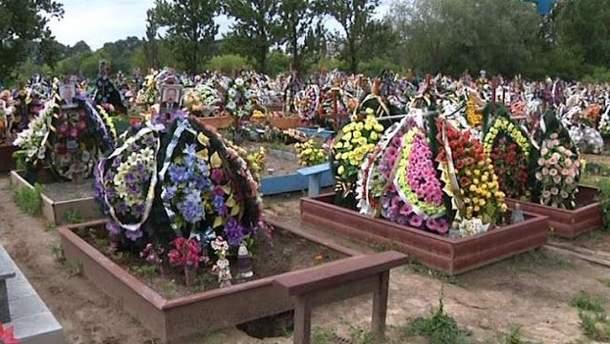 Кладбище превращаются в место экологического бедствия