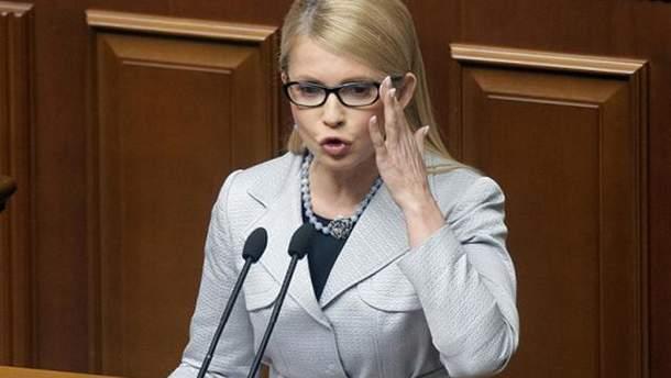 Тимошенко сравнила Гройсмана с упаковочной пленкой