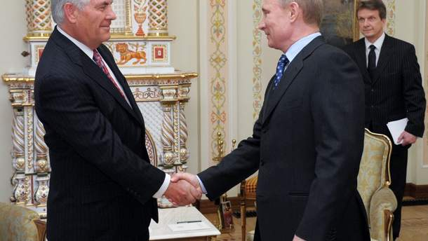Володимир Путін та Рекс Тіллерсон