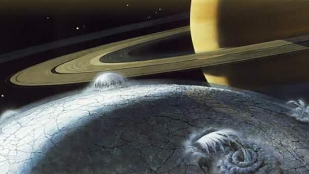 Поверхность Энцелада