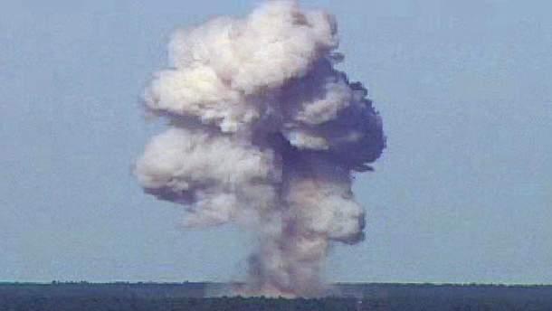Вибух бомби GBU-43