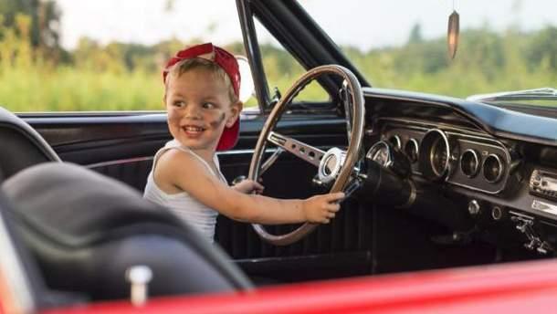 Дети за рулем