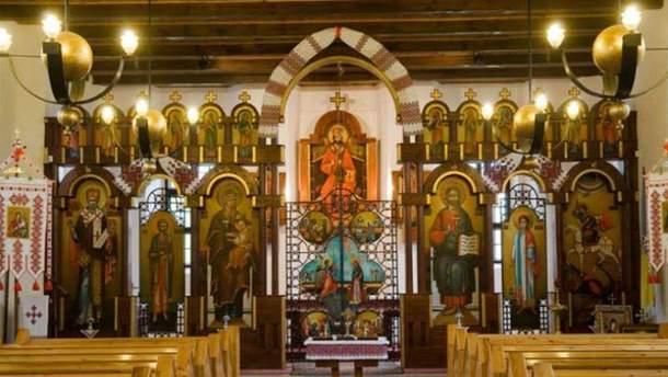 Приміщення церкви