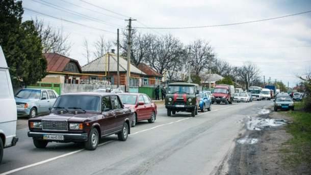Перекриття траси на Полтавщині