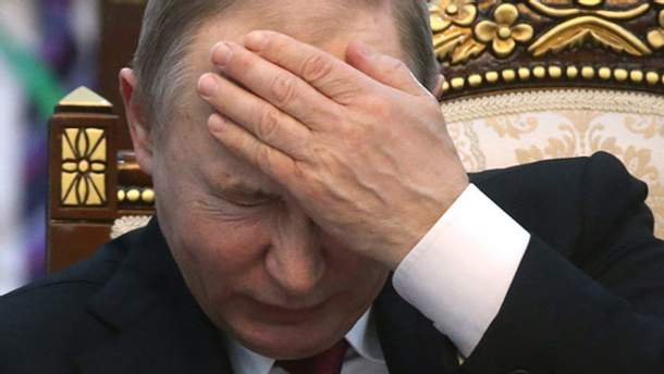 Володимир Путін розлючений