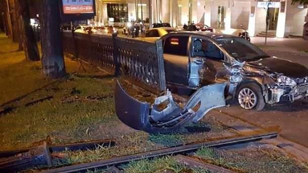 Авария на бульваре Шевченко в Киеве