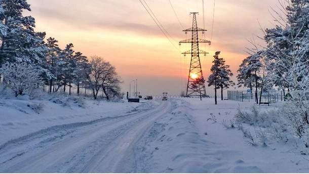 Квітневий сніг в Україні