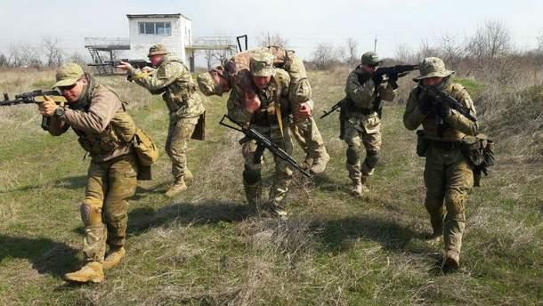 Учения украинских военных (Иллюстрация)