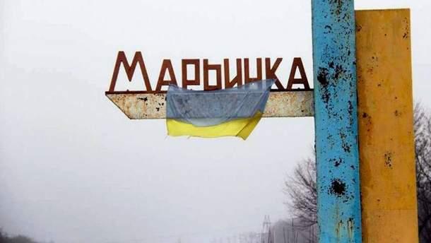 Ночной обстрел Марьинки