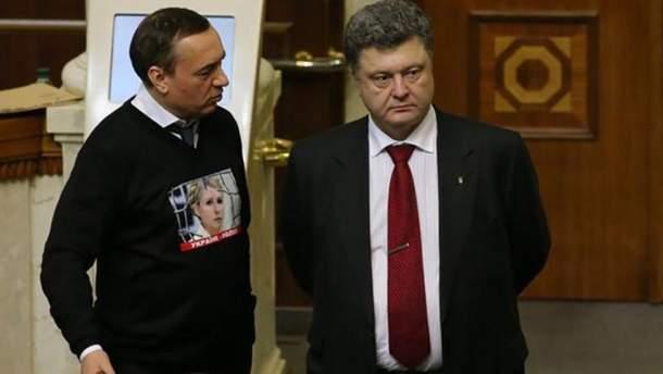 Николай Мартыненко и Петр Порошенко