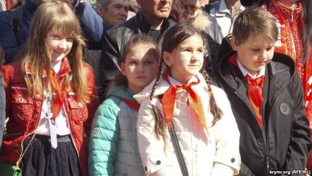 Советский митинг в оккупированном Севастополе