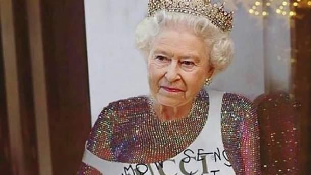 Єлизавета ІІ в інтерпритації Ріанни