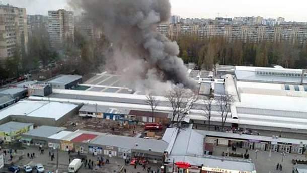 """Масштабна пожежа на ринку """"Північний"""""""