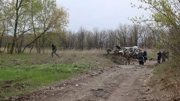 Місце підриву машини ОБСЄ