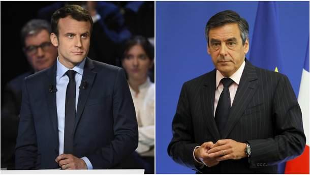 Франсуа Фийон и Эммануэль Макрон