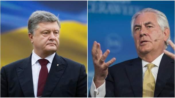 Петр Порошенко и РексТиллерсон