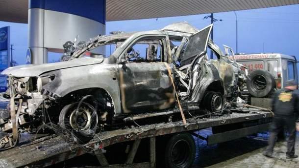 Підірваний автомобіль ОБСЄ