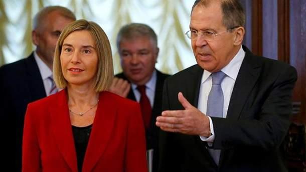 Федеріка Могеріні зустрілась в Москві з Сергієм Лавровим