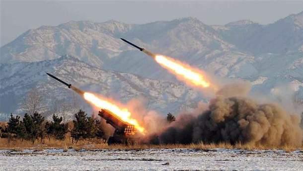 Артиллерийские стрельбы в Северной Корее