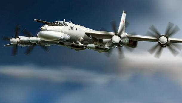 """Російський військовий літак Ту-95 """"Ведмідь"""""""