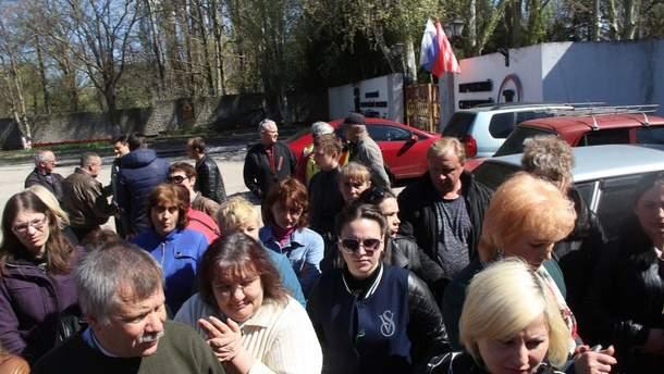 Протесты рабочих в Керчи
