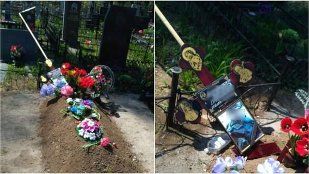 Поврежденные могильные памятники участников АТО