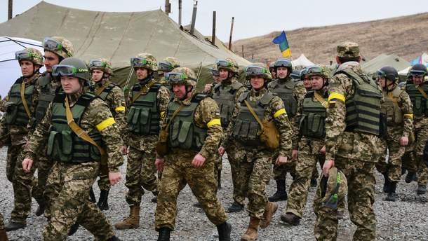 Украинские военные учения с участием резервистов