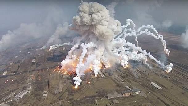 Взрывы на складах в Балаклее