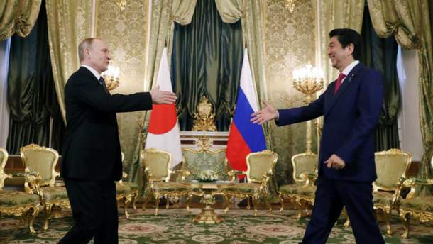 Володимир Путін і Сіндзо Абе