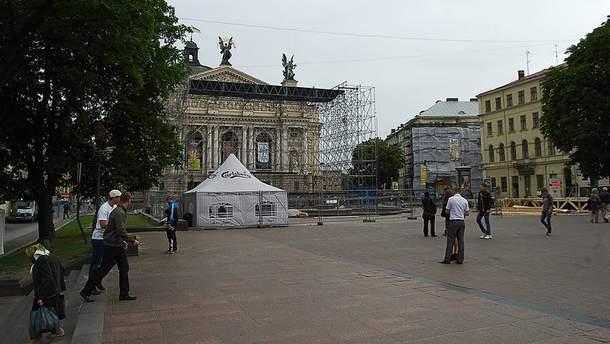 Фан-зону построят вблизи Оперного театра во Львове