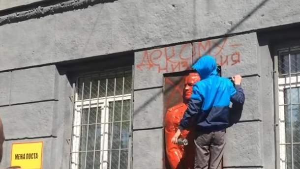 Жуков у Одесі висів на стіні військкомату