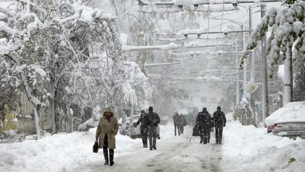Молдову в середине апреля засыпало снегом