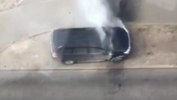 Активістці спалили авто