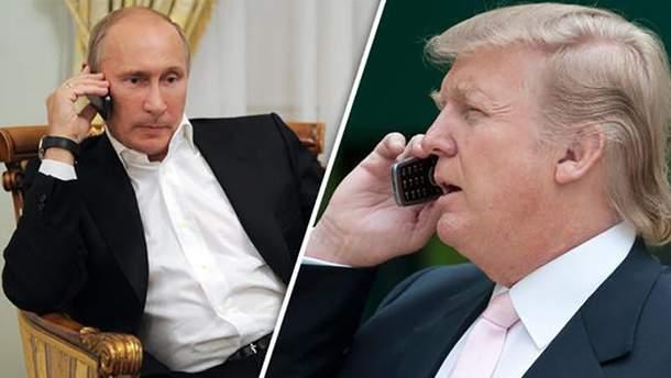 Владимир Путин и Дональд Трамп будут говорить по телефону