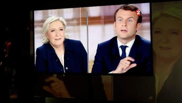 Макрон і Ле Пен зійшлись у запеклих теледебатах