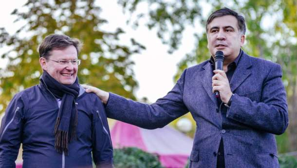 Олександр Боровик і Міхеїл Саакашвілі