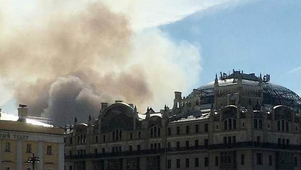 У Москві спалахнула пожежа