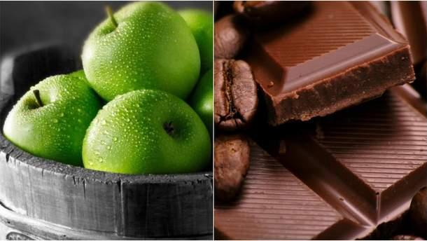 Яблоки и шоколад