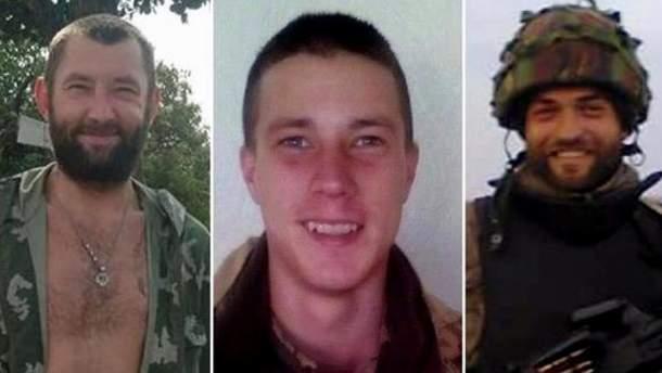 Троє військових, які загинули на Світлодарській Дузі