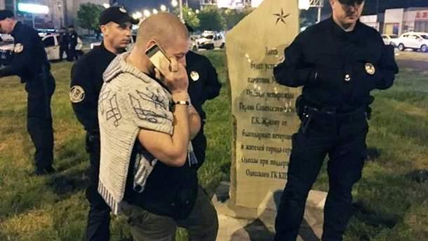 В Одесі демонтовано пам'ятний камінь маршалу Жукову